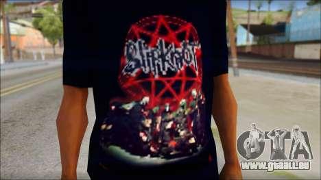 SlipKnoT T-Shirt v3 pour GTA San Andreas troisième écran