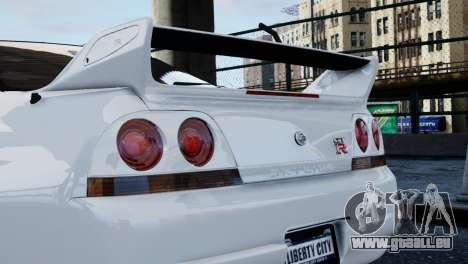 Nissan Skyline R33 1995 pour GTA 4 est un droit