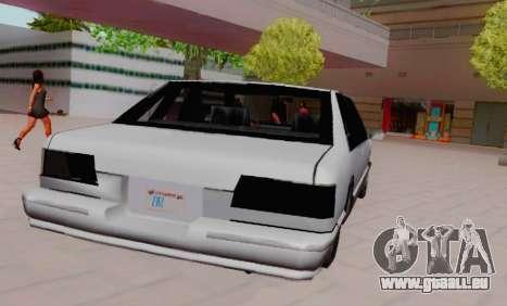 Premier Coupe für GTA San Andreas zurück linke Ansicht