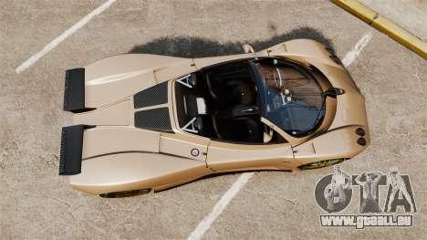 Pagani Zonda C12S Roadster 2001 v1.1 für GTA 4 rechte Ansicht