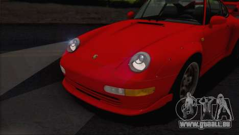 Porsche 911 GT2 (993) 1995 V1.0 EU Plate pour GTA San Andreas vue de dessous