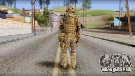 Desert SFOD from Soldier Front 2 pour GTA San Andreas deuxième écran