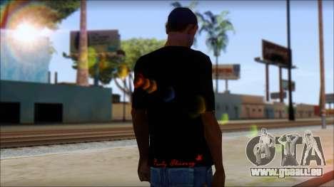 Ed Hardy Lion T-Shirt pour GTA San Andreas deuxième écran
