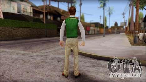 Donald from Bully Scholarship Edition für GTA San Andreas dritten Screenshot