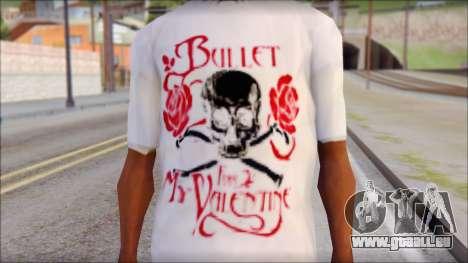 Bullet For My Valentine White Fan T-Shirt pour GTA San Andreas troisième écran