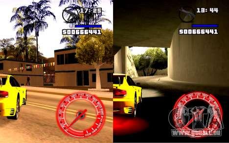Tacho Konzept StyleV16x9 für GTA San Andreas zweiten Screenshot