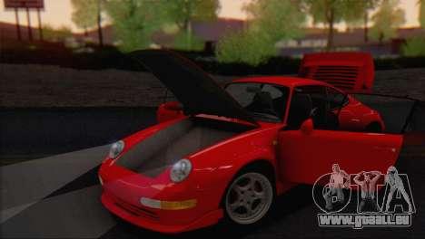 Porsche 911 GT2 (993) 1995 V1.0 EU Plate pour GTA San Andreas vue intérieure