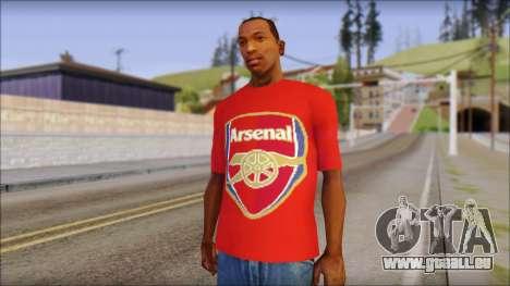 Arsenal T-Shirt für GTA San Andreas