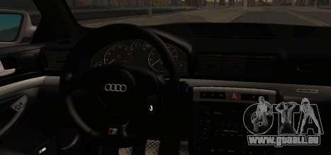 Audi S4 Stock 2000 pour GTA San Andreas vue de droite