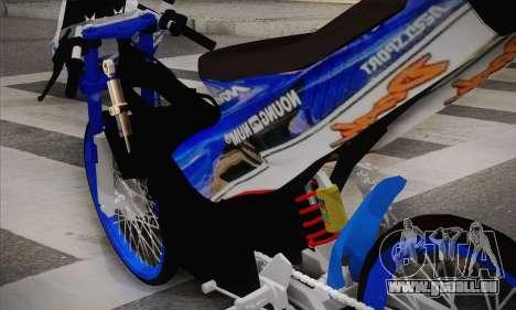 Honda Dash 2 tak pour GTA San Andreas sur la vue arrière gauche