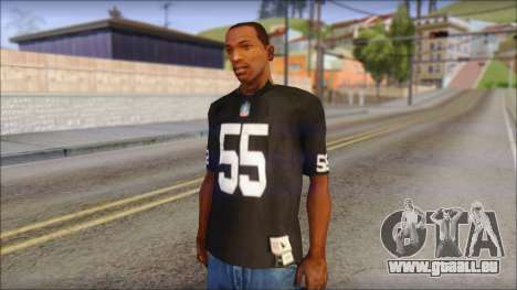 Oakland Raiders 55 McClain Black T-Shirt für GTA San Andreas