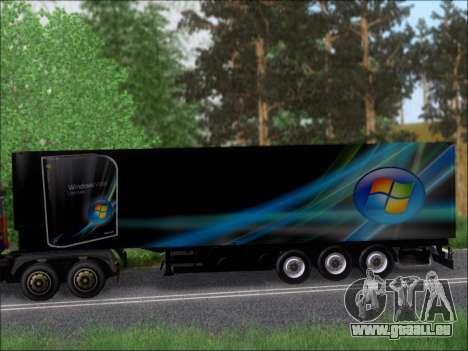 Прицеп Windows Vista Ultimate pour GTA San Andreas vue arrière