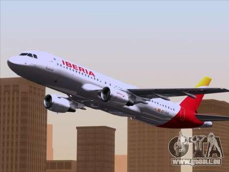 Airbus A320-214 Iberia pour GTA San Andreas vue de côté