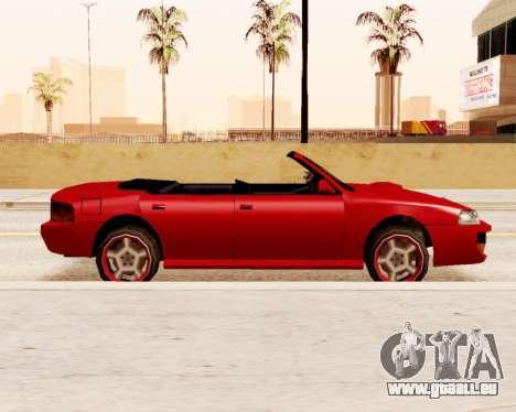 Sultan Convertible pour GTA San Andreas laissé vue