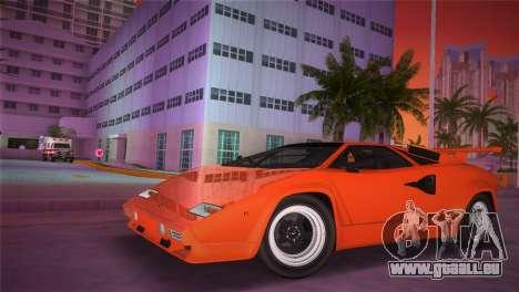 Lamborghini Countach LP5000 QV TT Custom pour GTA Vice City sur la vue arrière gauche