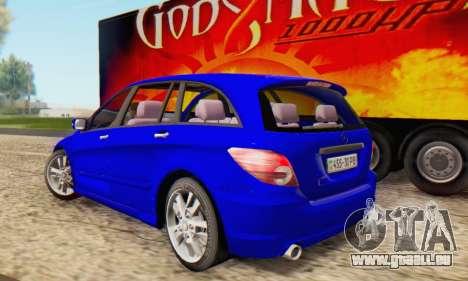 Mercedes-Benz R350 pour GTA San Andreas laissé vue