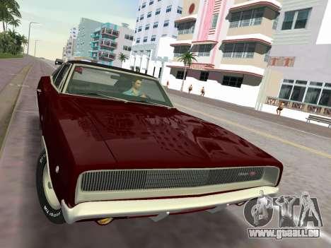 Dodge Charger RT 426 1968 pour GTA Vice City vue arrière