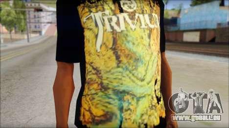 Trivium T-Shirt Mod für GTA San Andreas dritten Screenshot