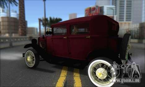 Ford A 1930 pour GTA San Andreas sur la vue arrière gauche