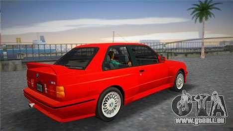BMW M3 (E30) 1987 pour une vue GTA Vice City de la gauche