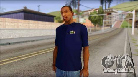 Blue Izod Lacoste Polo Shirt für GTA San Andreas