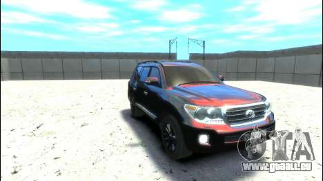 Toyota Land Cruiser 200 2013 pour GTA 4 Vue arrière de la gauche