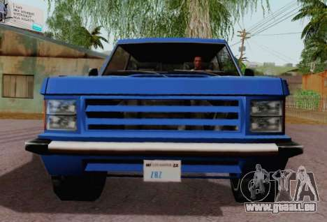 Huntley Coupe pour GTA San Andreas vue arrière