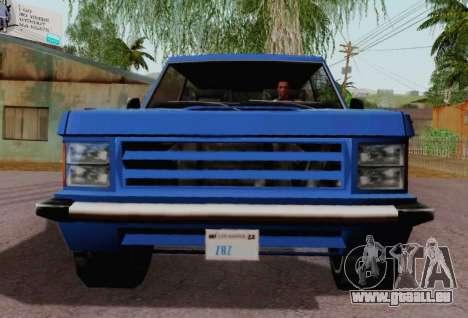 Huntley Coupe für GTA San Andreas Rückansicht