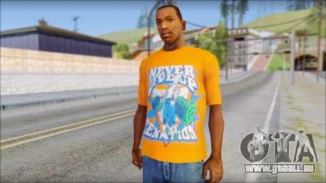 John Cena Orange T-Shirt für GTA San Andreas