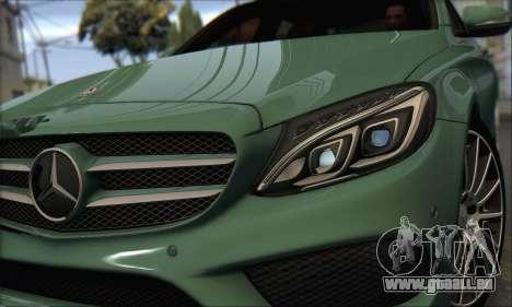 Mercedes-Benz C250 V1.0 2014 pour GTA San Andreas laissé vue