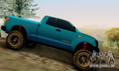 Toyota Tundra OFF Road Tuning Blue Star pour GTA San Andreas laissé vue