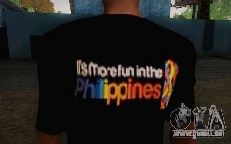 Its More Fun In Philippine T-Shirt pour GTA San Andreas troisième écran