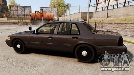 Ford Crown Victoria Sheriff [ELS] Unmarked für GTA 4 linke Ansicht