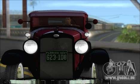 Ford A 1930 pour GTA San Andreas laissé vue