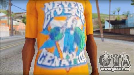 John Cena Orange T-Shirt pour GTA San Andreas troisième écran
