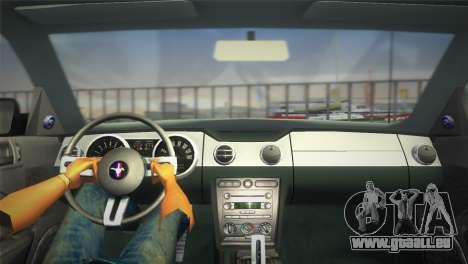 Ford Mustang GT 2005 für GTA Vice City rechten Ansicht