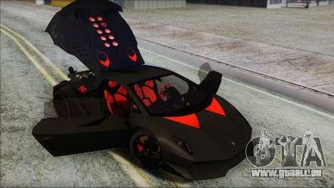 Lamborghini Sesto Elemento Concept 2010 pour GTA San Andreas vue de dessous
