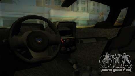 Marussia B2 2010 für GTA Vice City rechten Ansicht