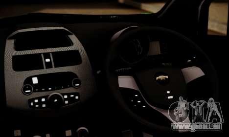 Chevrolet Spark 2011 für GTA San Andreas zurück linke Ansicht