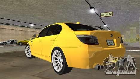 BMW M5 E60 pour une vue GTA Vice City de la gauche