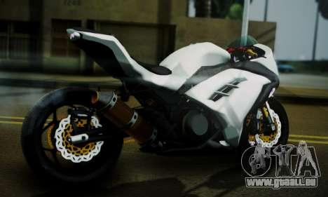 Kawasaki Ninja 250 fi pour GTA San Andreas laissé vue