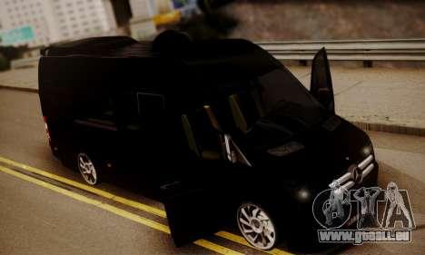 Mercedes-Benz Sprinter 315 CDi für GTA San Andreas Innenansicht
