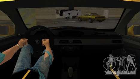 BMW M5 E60 pour GTA Vice City sur la vue arrière gauche