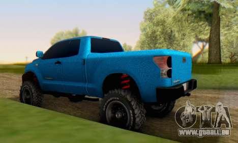 Toyota Tundra OFF Road Tuning Blue Star für GTA San Andreas zurück linke Ansicht