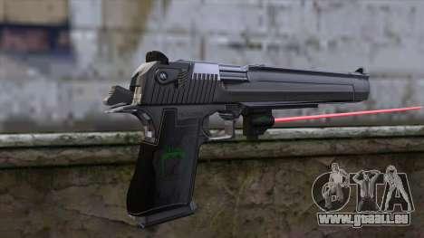Desert Eagle avec visée laser pour GTA San Andreas deuxième écran