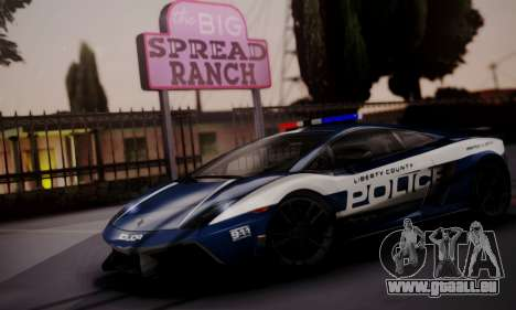 Lamborghini Gallardo LP 570-4 2011 Police v2 pour GTA San Andreas vue intérieure