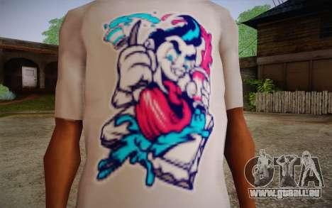 Nick Automatic T-Shirt pour GTA San Andreas troisième écran