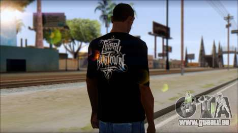 Tribal DOG Town T-Shirt Black für GTA San Andreas zweiten Screenshot