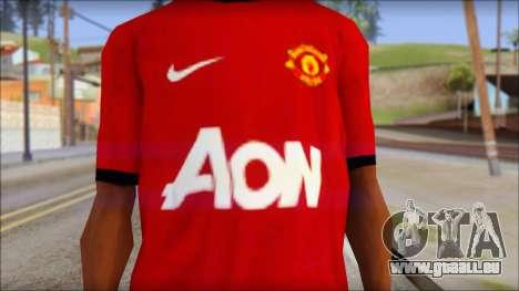 Manchester United 2013 T-Shirt pour GTA San Andreas troisième écran