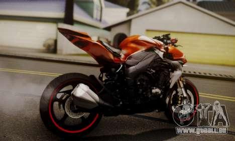 Kawasaki Z1000 2014 pour GTA San Andreas laissé vue